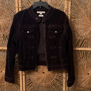 Tommy Hilfiger Brown Corduroy Moto Style Jacket